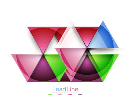 business continuity: Triangle abstract vector background. Colorful modern composiition