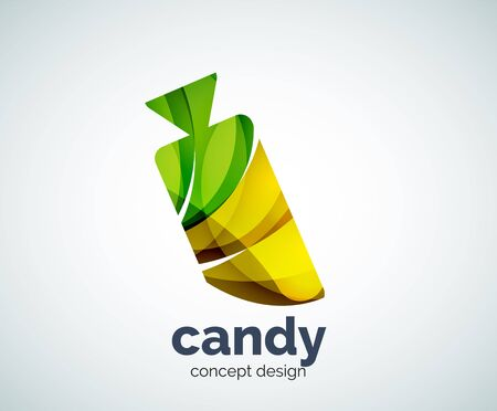 Vector candy  template, abstract business icon Illustration