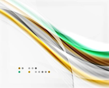 Vector abstract background wave template Illustration