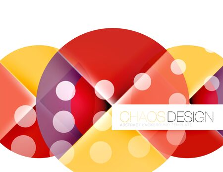 Round shape elements composition. Abstract vector background Illustration