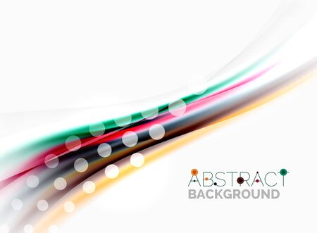 banners web: Wave abstract background, vector template Illustration