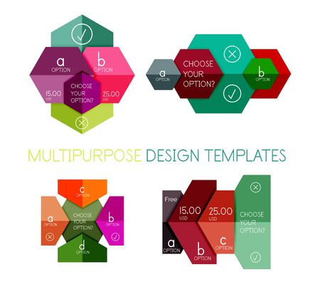 analytic: Infographic banners modern paper templates. For banners, business backgrounds, presentations