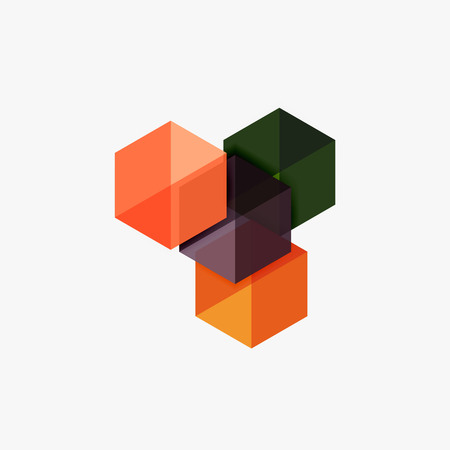 Blank geometric abstract business templates, hexagon layouts. Elements of business brochure, flyer or web design navigation layout Illustration