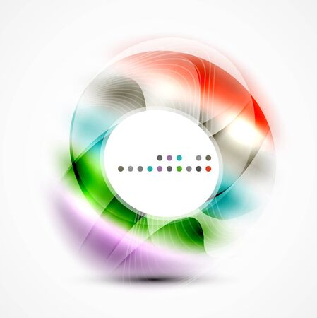 night vision: Shiny blurred circle template with space for text Illustration