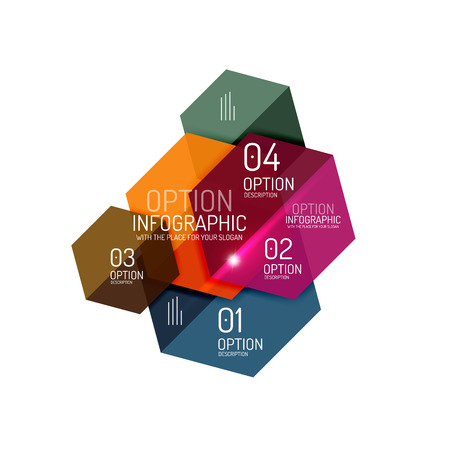 Paper infographic layout design templates for backgrounds, presentations and options