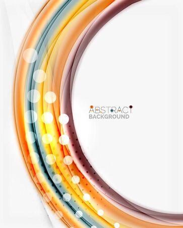 ripple effect: Blurred swirl background vector template Illustration