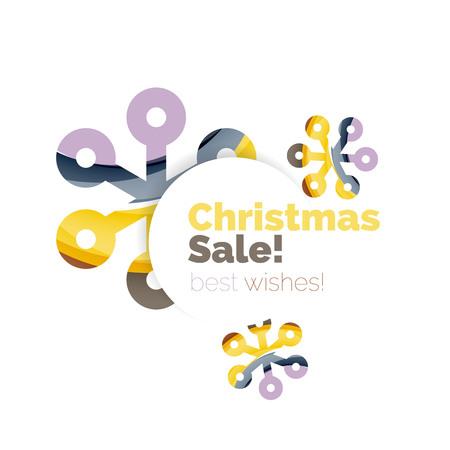best buy: Geometric Christmas sale or promotion ad banner. Blank offer design Illustration