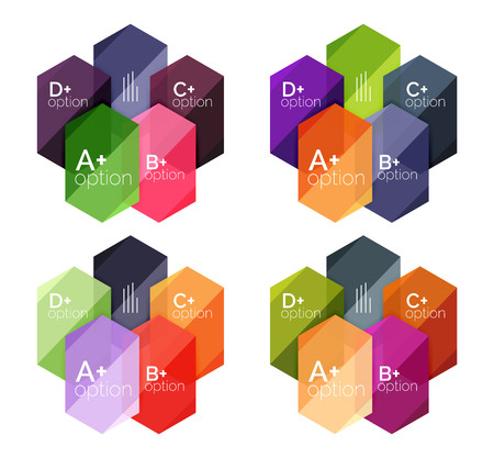 Set of geometric abstract infographic banners for your content