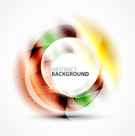 Shiny blurred circle template with space for text Illustration