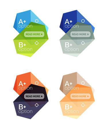 Vector geometric option infographic templates Illustration