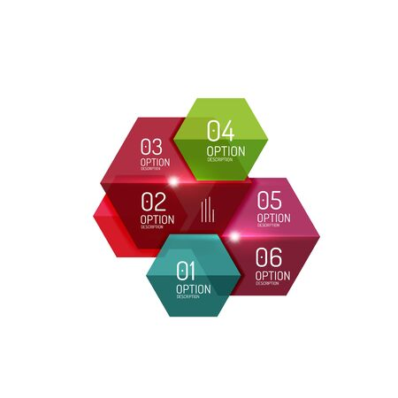 Business infographic design template. Abstract geometric elements suitable for text or infographics