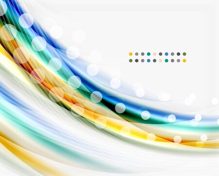 Translucent wave on white background. Modern business abstract template for your message Illustration