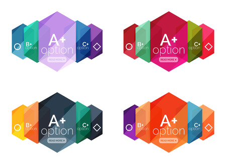 Set of vector option infographic geometric templates