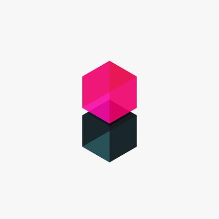 Leere Leere Sechseck-Layout, Geometrische Vorlage Für Text Und ...