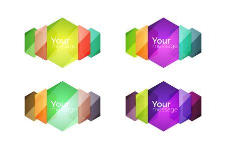 적합: Set of vector shiny blank boxes for your content. Abstract geometric elements suitable for text or infographics 일러스트