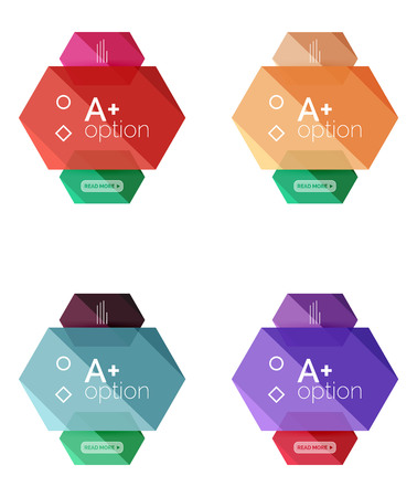 Set Of Vector Option Infographic Geometric Templates Royalty Free ...