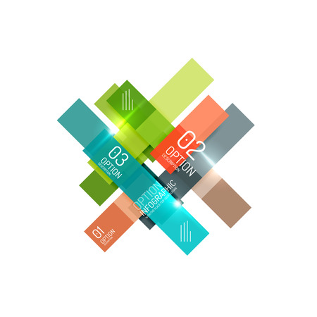 Geometric vector abstract composition with text and options for workflow layout, diagram, number options or web design