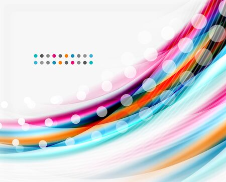 smooth background: Colorful modern wave line, business abstract layout or flyer Illustration