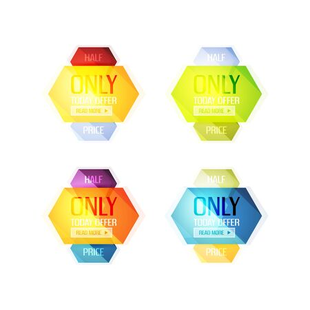 Vector abstract geometric sale labels, tags and banners Illustration