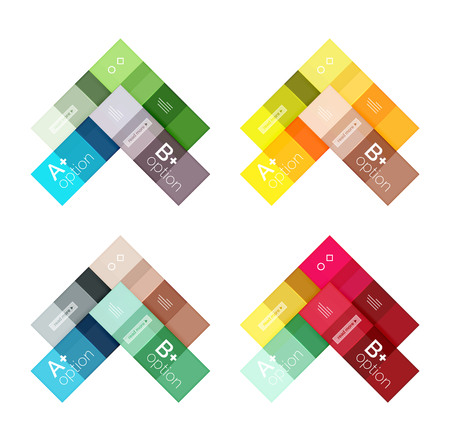 solid: Vector color stripes infographics templates with sample option text, isolated on white. Geometric business abstract line background for workflow layout, diagram, number options or web design