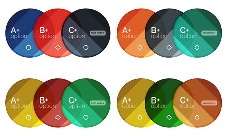 Set of round option diagram template for your data or info. Vector illustration - geometric shapes with options elements for business background, numbered banners, graphic website