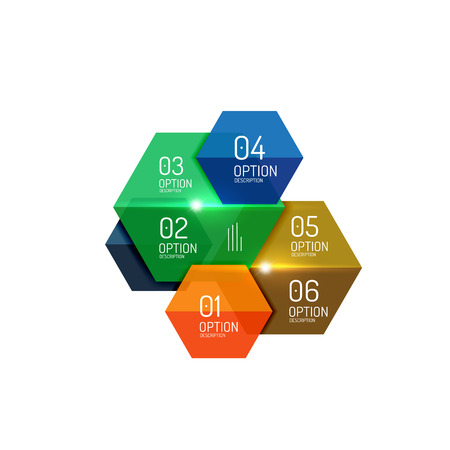 Paper modern infographic geometric templates for business layout or option presentation Illustration