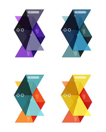 bebe a bordo: Vector colorful business infographic template or web banner layout. Arrow shape