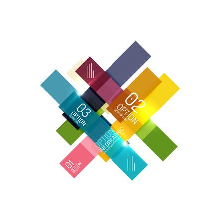 Infographie géométrique de business abstract vector pour la mise en page de flux de travail, diagramme, options de nombre ou design web Vecteurs