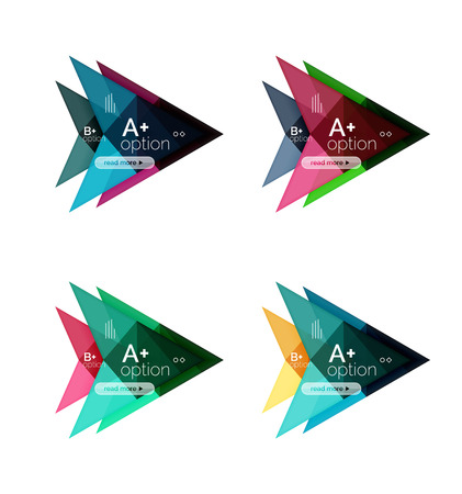 Colorful vector option banner arrow templates, infographic backgrounds set for workflow layout, diagram, number options or web design