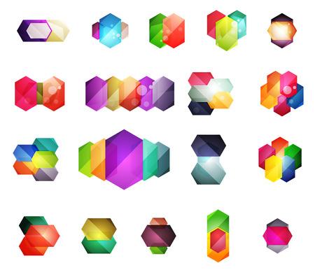 적합: 콘텐츠에 대한 벡터 반짝 빈 상자를 설정합니다. 텍스트 또는 인포 그래픽에 적합한 추상 형상 요소 일러스트
