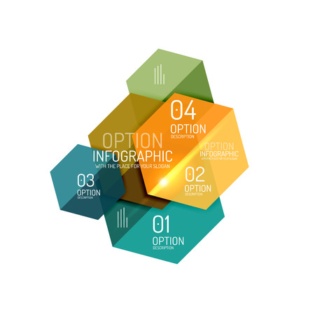 preventive: Business infographic design template. Abstract geometric elements suitable for text or infographics