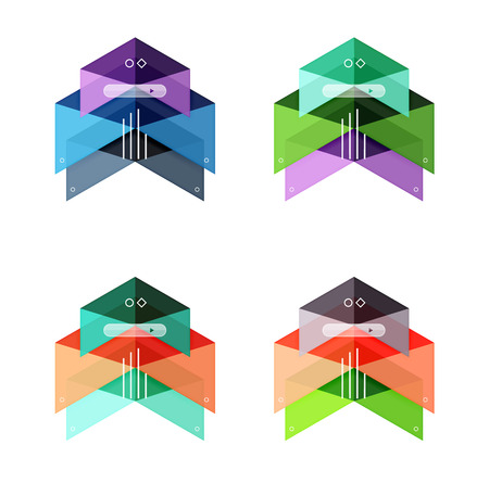 Vector colorful business infographic template or web banner layout. Arrow shape