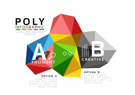 Vector colorful abstract low poly infographic vector background Stock Photo