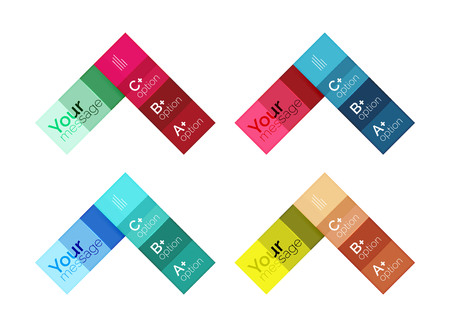 Vector color stripes infographics templates