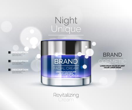 Vector anuncios crema prima