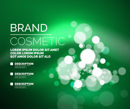 glamorous: Vector universal glamorous cosmetic blank advertising template Illustration
