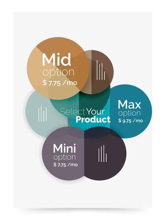 basic scheme: Business cover brochure design with select option diagram Illustration