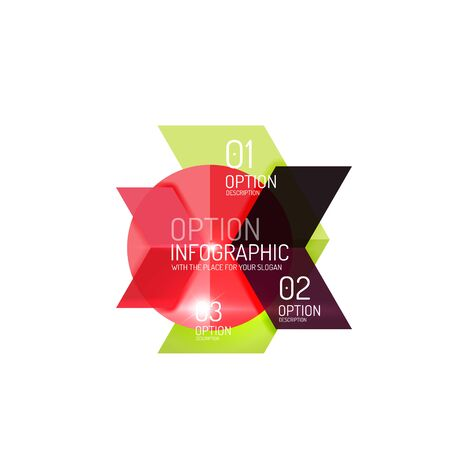 Abstract background, geometric infographic option templates