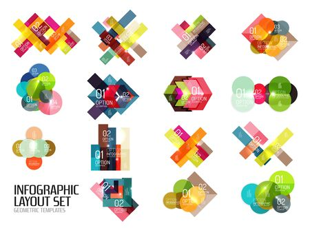 Set of buiness infographics templates