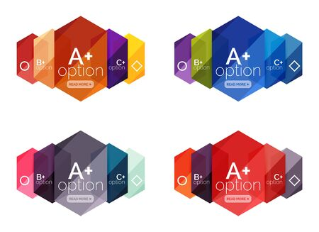 Abstract infographic banners for your content Illustration