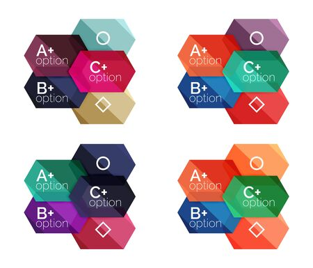 rhomb: Abstract infographic banners for your content Illustration