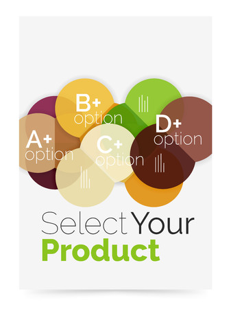 Business layout - select your product with sample options