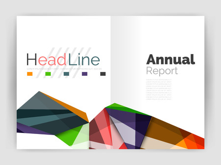 Triangles and lines, annual report flyer brochure template Illustration