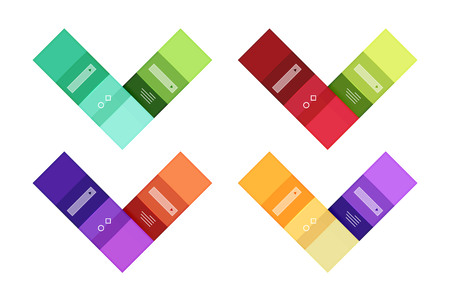 Colorful stripes infographic templates set Illustration