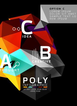 Abstract polygonal infographics