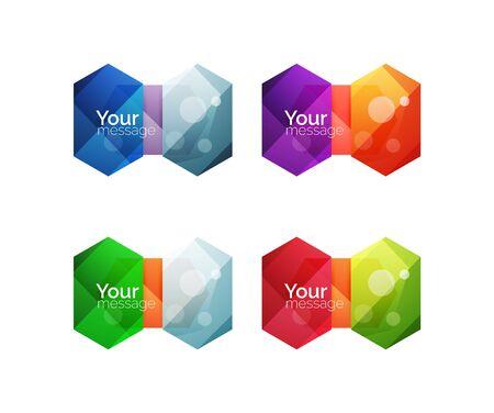 적합: Set of vector shiny blank boxes for your content