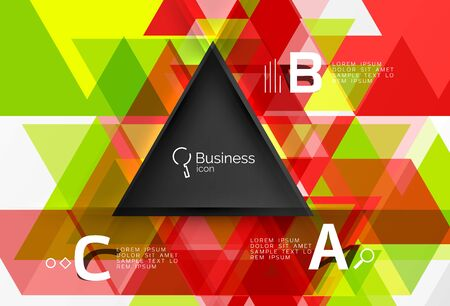 Vector modern triangle background