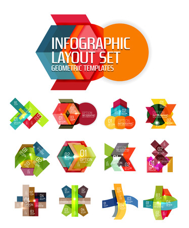 Vector geometric abstract background template for infographics