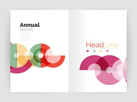 circles: Abstract circles, annual report covers