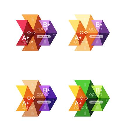 Set Von Farbe Abstrakte Pfeil Option Infografische Vorlagen. Vector ...